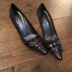 Greybrown high heels